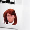Meredith Celebrity Head Sticker - The Office