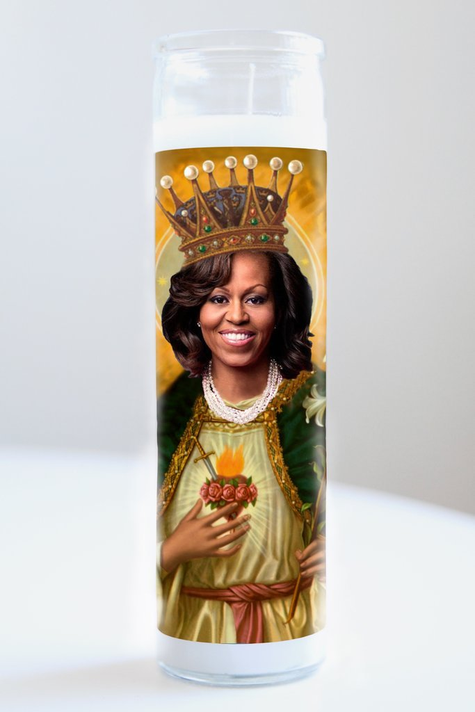 Michelle Obama Idol Candle