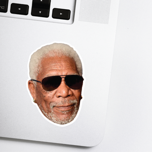 Morgan Freeman Celebrity Head Sticker