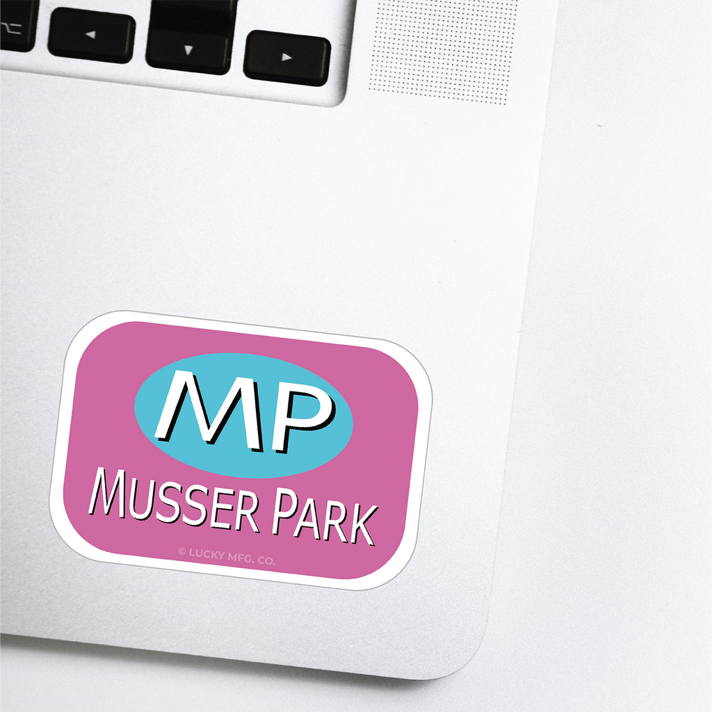 Musser Park Lancaster Pennsylvania Neighborhood - 80s TV Sticker