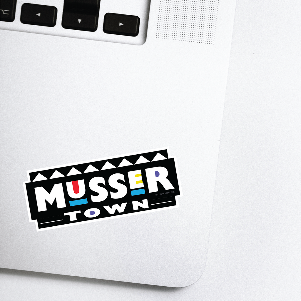 Musser Town Lancaster Pennsylvania Neighborhood - 80s TV Sticker