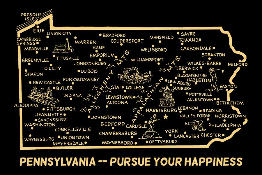 Pursue Your Happiness Postcard