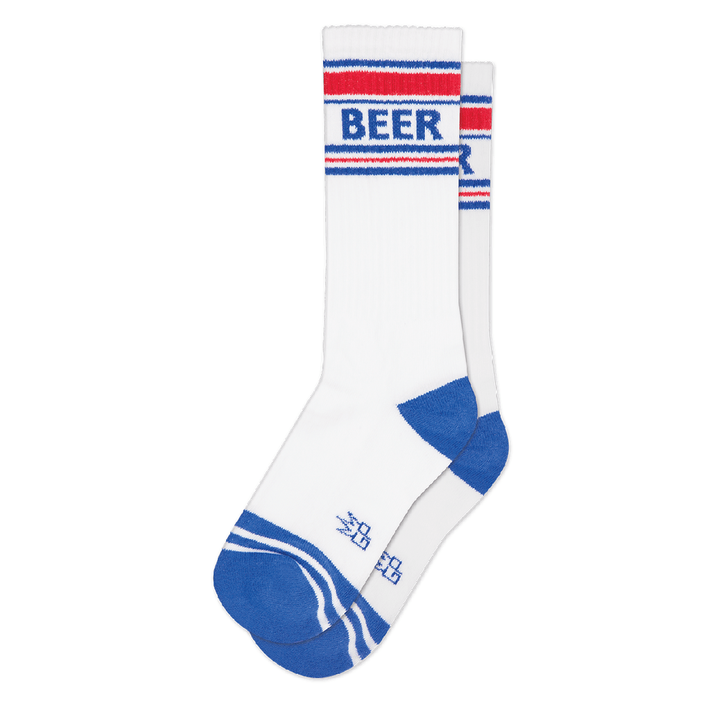 Patriotic Beer Ribbed Gym Socks by Gumball Poodle