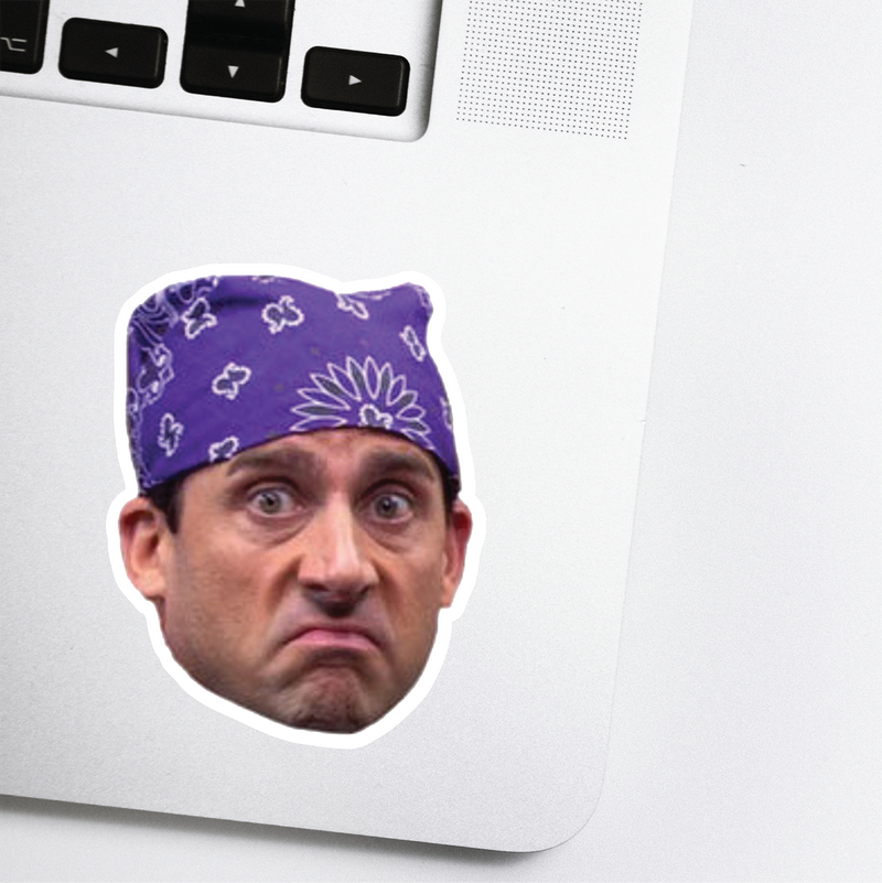 Prison Mike Celebrity Head Sticker - The Office