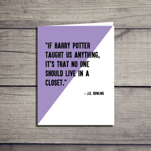 J.K. Rowling LGBT Inspirational Quote Card