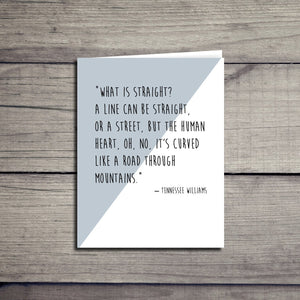 Tennessee Williams Inspirational Equality Love Quote Card