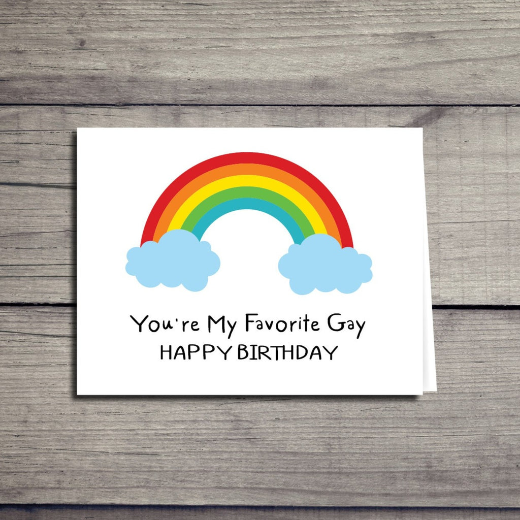 Favorite Gay Birthday Card