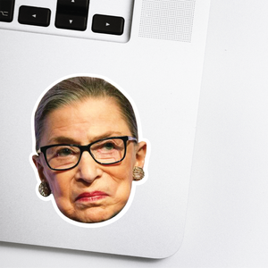 Ruth Bader Ginsburg Head Sticker