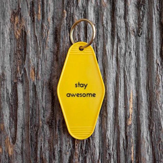 Stay Awesome Tag Keychain