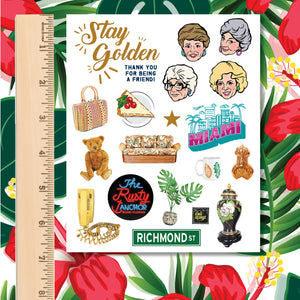 Golden Girls Fan Favorite Icons 19-Sticker Sheet
