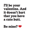 """Cute Butt"" Valentine's Day Card"