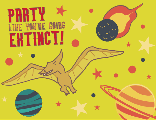 Extinct Birthday Dinosaur Card
