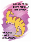Megasaurus Dinosaur Birthday Card