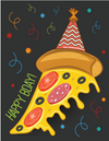 Pizza Party Birthday Card