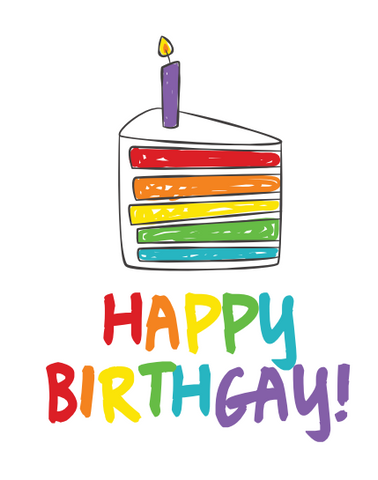 Happy BirthGAY Card