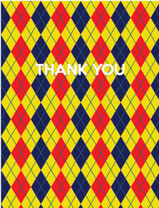 "Plaid & Argyle ""Thank You"" 8 Card Pack"