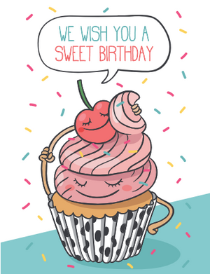 Sweet Birthday Cupcake Card
