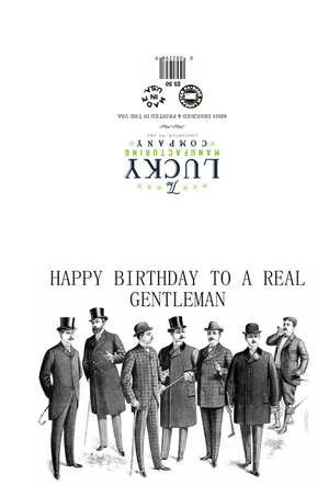 Real Gentlemen Birthday Card