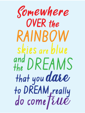 """Somewhere Over The Rainbow"" Pride Card"