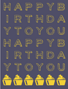 Purple and Yellow Happy Birthday Card