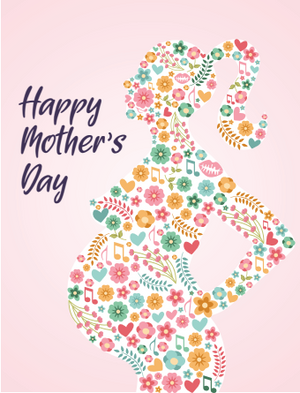 Floral Silhouette Mother's Day Card