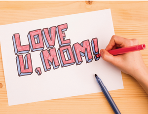 """Love U Mom"" Mother's Day Card"