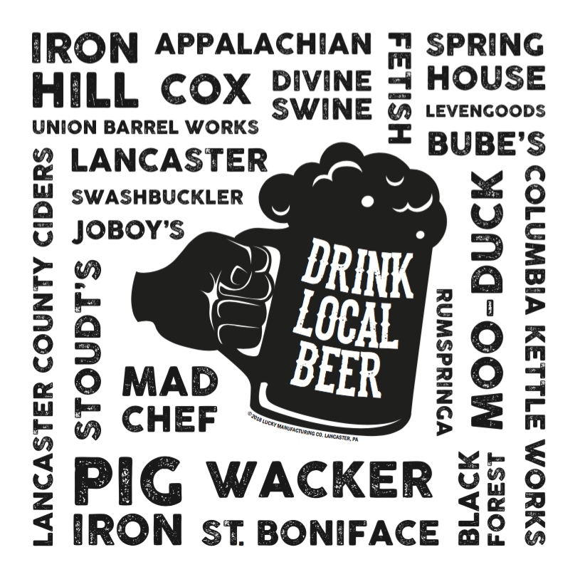 Drink Local Beer Lancaster Pennsylvania Sticker