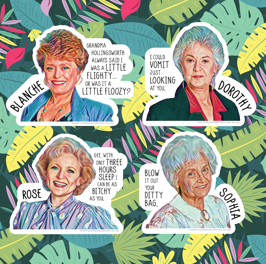Golden Girls Quotes Sticker Set