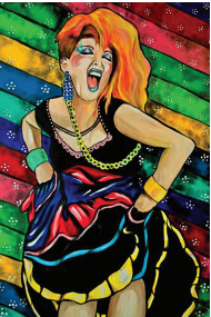 Cyndi Lauper Pop Art Sticker