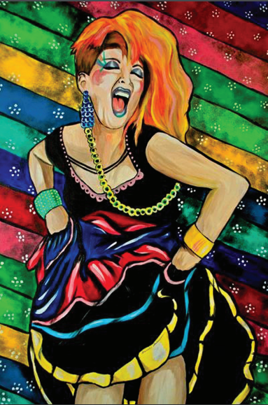 Cyndi Lauper Pop Art Postcard