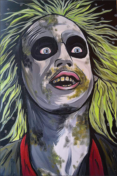 Beetlejuice Pop Art Postcard