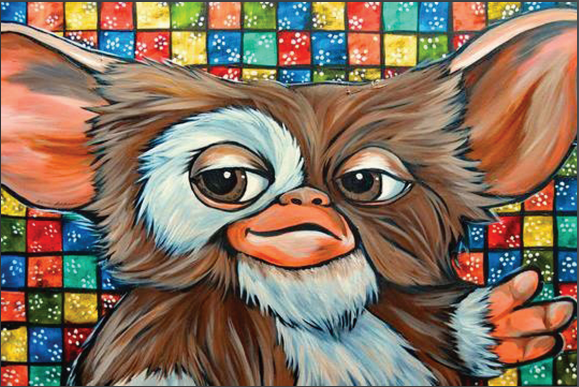 Gizmo Pop Art Postcard