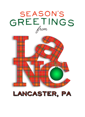 Orange Plaid Lancaster Pennsylvania Christmas Card
