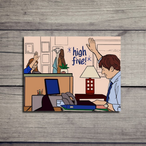 High Five The Office Card - Jim and Pam