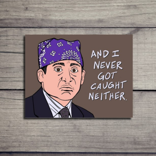 Prison Mike The Office Card