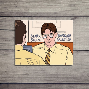 Jim as Dwight The Office Card