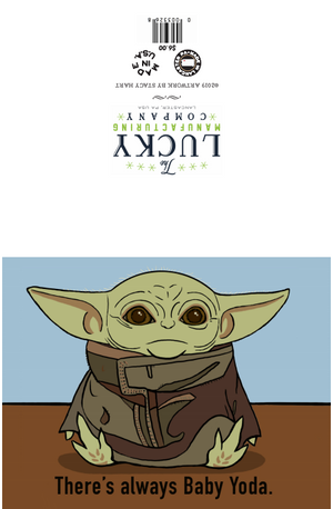 Baby Yoda Greeting Card - Star Wars
