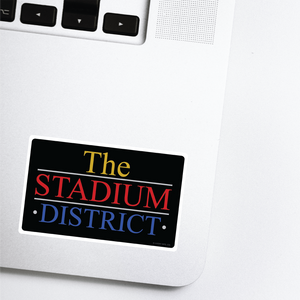 Stadium District Lancaster Pennsylvania Neighborhood - 80s TV Sticker