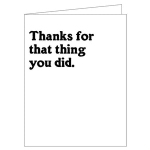 That Thing You Did Thank You Card