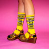 True Crime all the Time Ribbed Gym Socks by Gumball Poodle