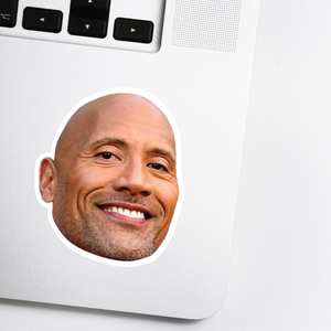 "Dwayne ""The Rock""  Johnson Celebrity Head Sticker"