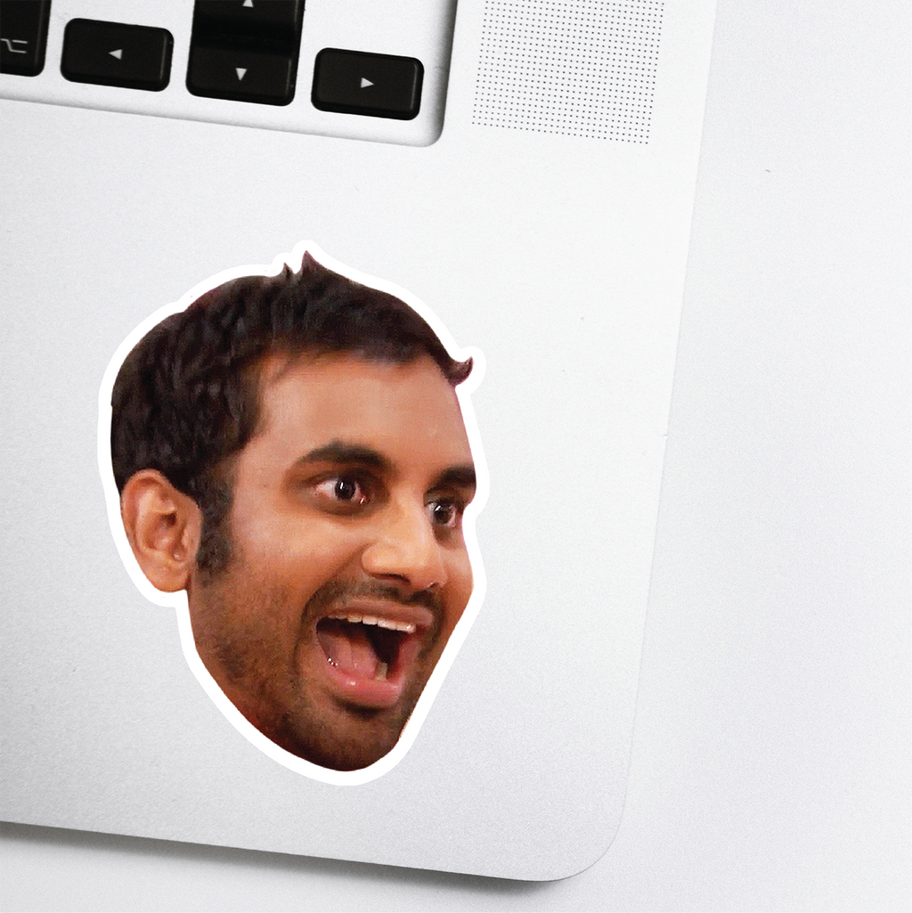 Tom Haverford Celebrity Head Sticker - Parks and Rec