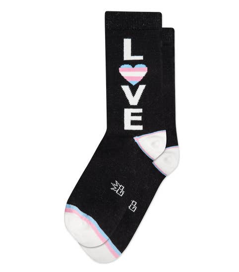 Trans Love Rainbow Trans Crew Dress Socks by Gumball Poodle