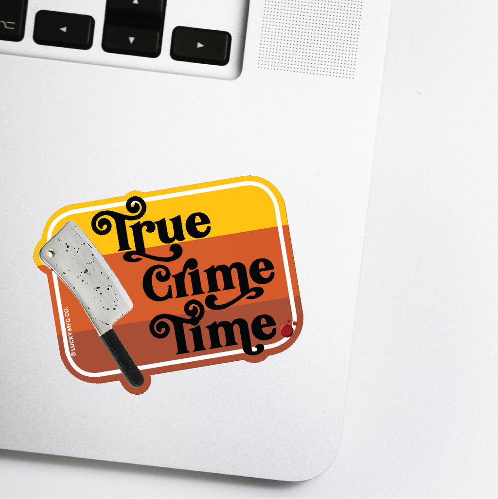 True Crime Time Sticker