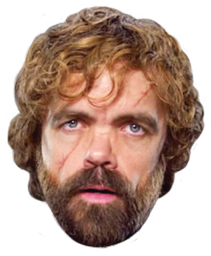 Tyrion Lannister Celebrity Head Sticker - Game of Thrones (HBO)