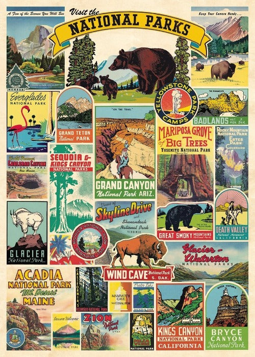National Parks Poster Wrap