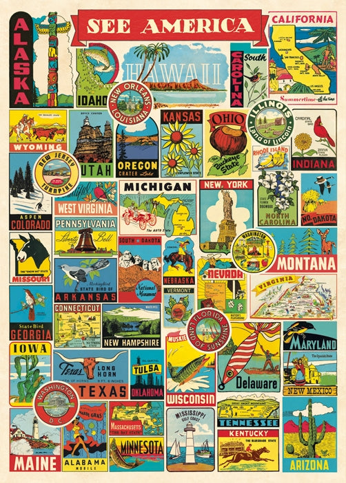 See America Travel Poster Wrap