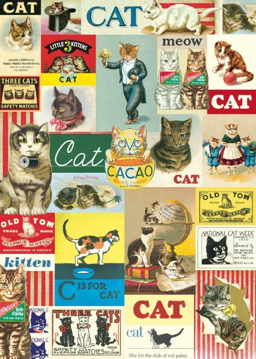 Vintage Cat Wrapping Paper