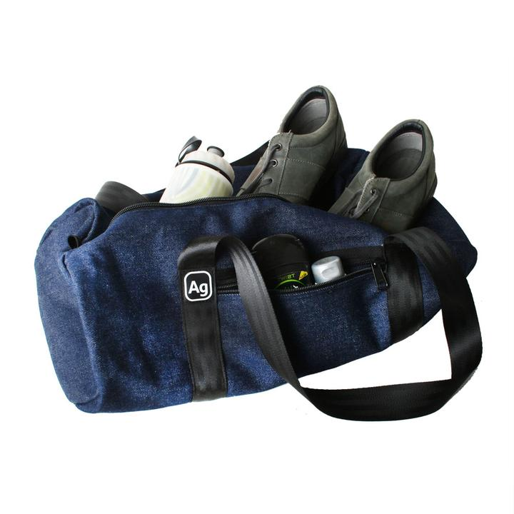 Limited Edition Weekender Blue Denim Duffel Bag by Alchemy Goods