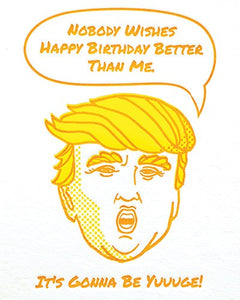 Yuuuuuge Birthday Card